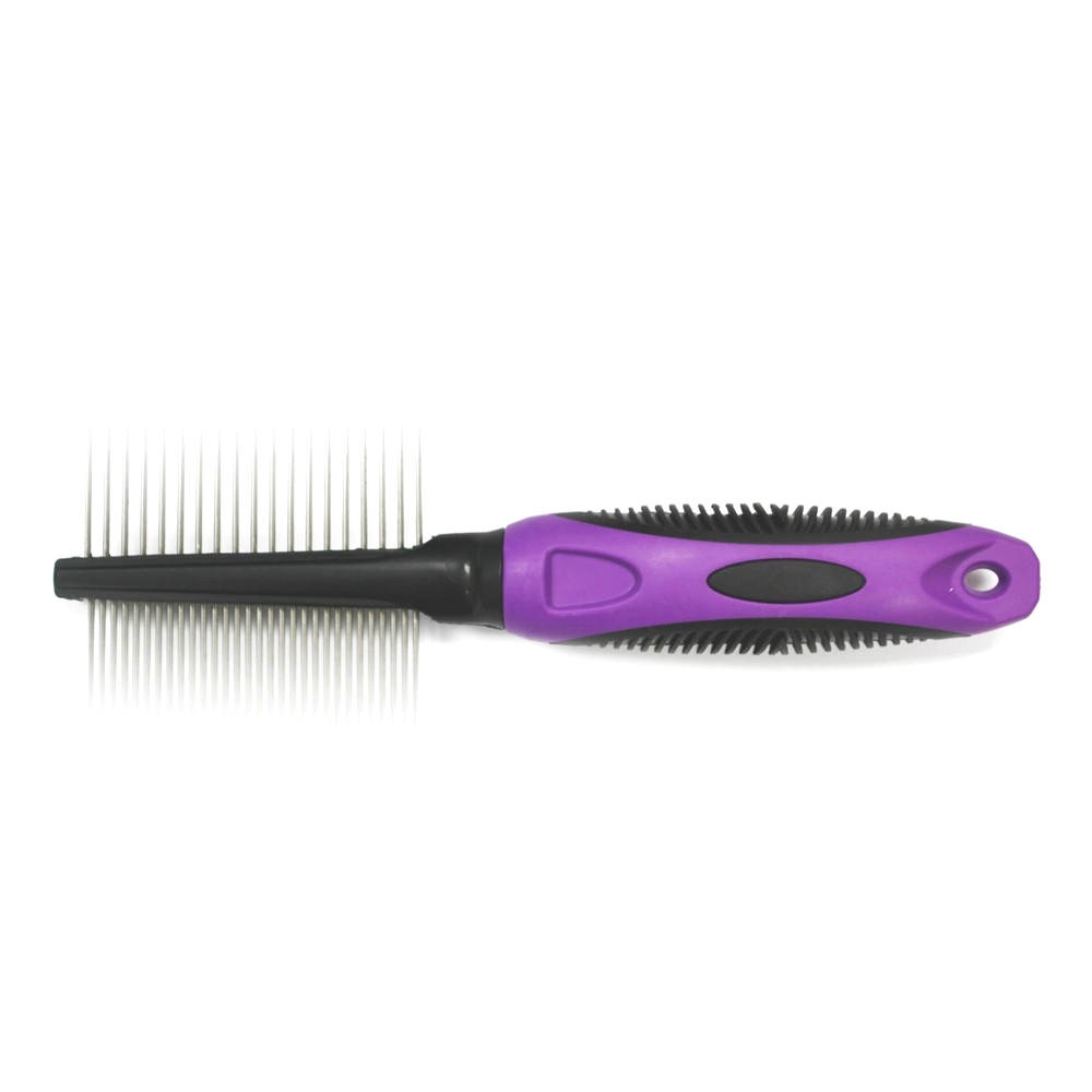 SureGrip Medium/Coarse Double Sided Handled Comb
